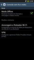 Samsung I9500 Galaxy S IV - Rede móvel - Como ativar e desativar o modo avião no seu aparelho - Etapa 7