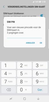 Samsung Galaxy S8 (G950) - Beveiliging en ouderlijk toezicht - Hoe wijzig ik mijn SIM PIN-code - Stap 9