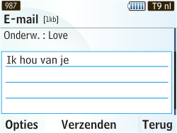 Samsung S3350 Chat 335 - E-mail - Hoe te versturen - Stap 8