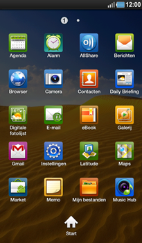 Samsung P1000 Galaxy Tab - MMS - Afbeeldingen verzenden - Stap 2