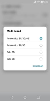 LG Q6 - Red - Seleccionar el tipo de red - Paso 6