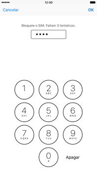 Apple iPhone 6s Plus - Segurança - Como ativar o código PIN do cartão de telemóvel -  7