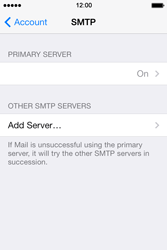 Apple iPhone 4 S iOS 7 - E-mail - Manual configuration - Step 19