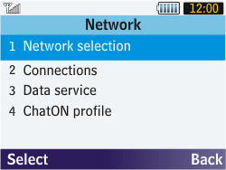 Samsung S3570 Chat 357 - Network - Usage across the border - Step 5