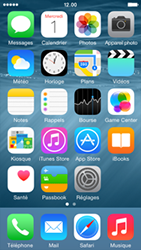 Apple iPhone 5s (iOS 8) - Contact, Appels, SMS/MMS - Envoyer un SMS - Étape 1