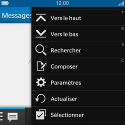 BlackBerry Q5 - SMS - configuration manuelle - Étape 4