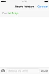 Apple iPhone 4S iOS 7 - Mensajería - Escribir y enviar un mensaje multimedia - Paso 7