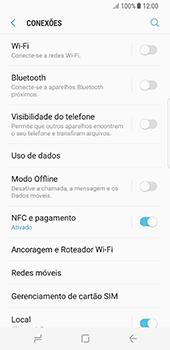 Samsung Galaxy S8 - Rede móvel - Como ativar e desativar o modo avião no seu aparelho - Etapa 5