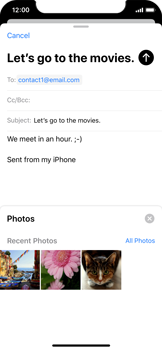 Apple iPhone XS - iOS 13 - Email - Sending an email message - Step 11
