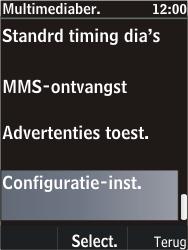 Nokia C2-05 - MMS - automatisch instellen - Stap 10