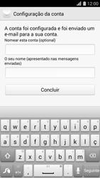 Huawei G620s - Email - Configurar a conta de Email -  20