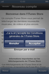Apple iPhone 4 S - Applications - Créer un compte - Étape 7