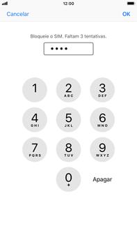 Apple iPhone 8 Plus - iOS 12 - Segurança - Como ativar o código PIN do cartão de telemóvel -  7