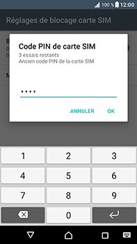 Sony Xperia XA1 Ultra - Sécuriser votre mobile - Personnaliser le code PIN de votre carte SIM - Étape 8
