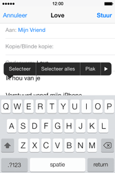 Apple iPhone 4 met iOS 7 - E-mail - Hoe te versturen - Stap 9