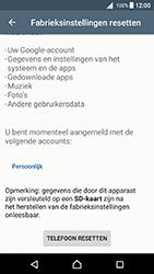 Sony Xperia X - Android Nougat - Device maintenance - Terugkeren naar fabrieksinstellingen - Stap 7