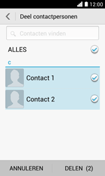 Huawei Ascend Y330 - Contactgegevens overzetten - delen via Bluetooth - Stap 7