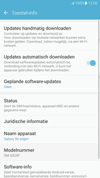 Samsung Samsung G928 Galaxy S6 Edge + (Android M) - Toestel - Software update - Stap 6