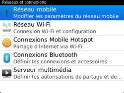 BlackBerry 9320 - Aller plus loin - Désactiver les données à l'étranger - Étape 5