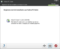 Nokia E63 - Software - PC-software installeren - Stap 9