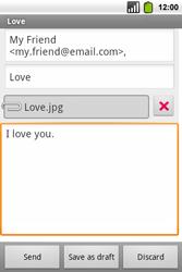 Alcatel OT-991 Smart - E-mail - Sending emails - Step 12