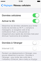 Apple iPhone 4s iOS 8 - Internet - Activer ou désactiver - Étape 4