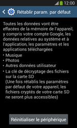 Samsung Galaxy Core Plus - Device maintenance - Retour aux réglages usine - Étape 8