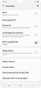 Samsung Galaxy A50 - Rede móvel - Como ativar e desativar uma rede de dados - Etapa 5