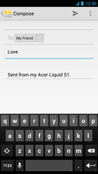 Acer Liquid S1 - Email - Sending an email message - Step 8