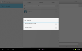 Sony SGP321 Xperia Tablet Z LTE - Mms - Sending a picture message - Step 6