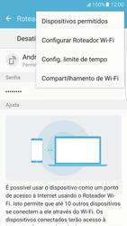 Samsung Galaxy S7 Edge - Wi-Fi - Como usar seu aparelho como um roteador de rede wi-fi - Etapa 8