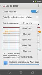 Sony Xperia M2 - Internet - Ver uso de datos - Paso 6