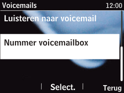 Nokia Asha 201 - Voicemail - handmatig instellen - Stap 9