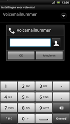 Sony LT22i Xperia P - Voicemail - handmatig instellen - Stap 7