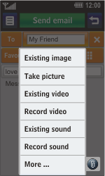 LG GD900 Crystal - E-mail - Sending emails - Step 9