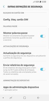 Samsung Galaxy S8 - Android Oreo - Segurança - Como ativar o código PIN do cartão de telemóvel -  6