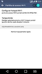LG K8 - Wi-Fi - Como usar seu aparelho como um roteador de rede wi-fi - Etapa 11