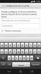 Sony Xperia Z - E-mail - Configurar correo electrónico - Paso 5