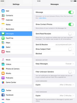 Apple iPad mini 4 iOS 10 - iOS features - Send iMessage - Step 5