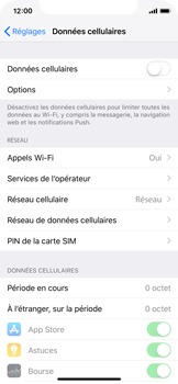 Apple iPhone X - iOS 12 - Internet - activer ou désactiver - Étape 5