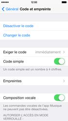 Apple iPhone 5s - Sécuriser votre mobile - Activer le code de verrouillage - Étape 8