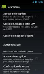 Acer Liquid Glow E330 - SMS - Configuration manuelle - Étape 5