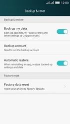 Huawei Y635 Dual SIM - Device maintenance - How to do a factory reset - Step 5