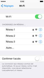 Apple iPhone 5 iOS 8 - Wifi - configuration manuelle - Étape 4
