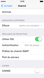 Apple iPhone 5s - E-mail - Configuration manuelle - Étape 24
