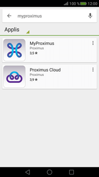 Huawei Mate S - Applications - MyProximus - Étape 6