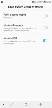 Samsung Galaxy J6 - Internet et connexion - Utiliser le mode modem par USB - Étape 9