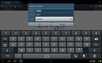 Samsung P5100 Galaxy Tab 2 10-1 - Internet - navigation sur Internet - Étape 5