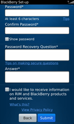 BlackBerry 9860 Torch - BlackBerry activation - BlackBerry ID activation - Step 9