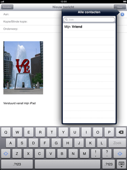 Apple iPad mini - E-mail - E-mails verzenden - Stap 7
